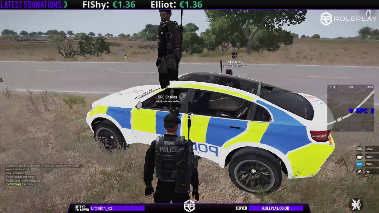 Arma 3 - Police - Roleplay co uk - Promotion! & Playing with a Stomper!