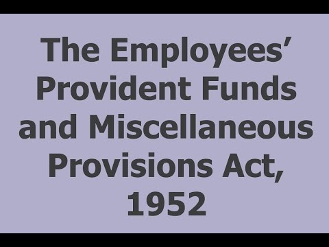 The Employees' Provident Funds and Miscellaneous Provisions Act, 1952 - ICAI