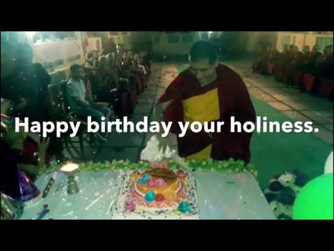 His holiness birthday at Lhopa khangtsen