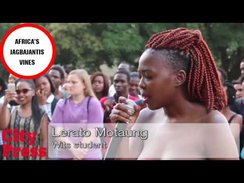In South Africa WIT Students go topless in a protest against child rape. thumbnail