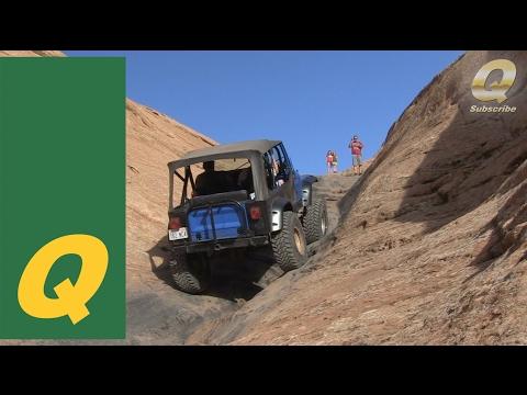 Jeep CJ7 Climbing Hell's Gate Moab 2014 EJS