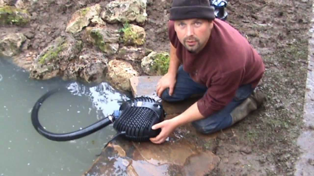 How to build a fish pond and stream cascade complete for Making a fish pond