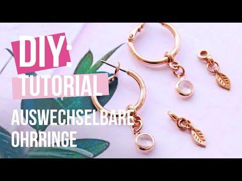 Schmuck machen: Auswechselbare Ohrringe ♡ DIY