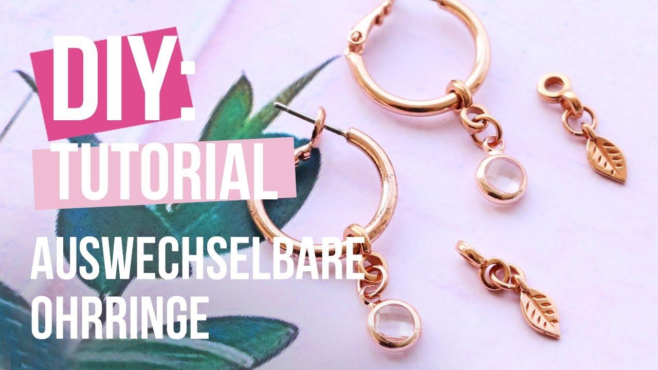 große Auswahl von 2019 großer Verkauf Professionel Schmuck machen: Auswechselbare Ohrringe ♡ DIY ...
