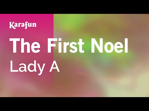 Karaoke The First Noel - Lady Antebellum *