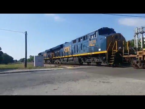 CSX 3370 & 3376 Intermodal train, North Charleston, SC