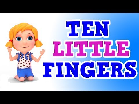 Ten Little Fingers Ten Little Toes  3D Animation English Nursery Rhyme with Lyrics