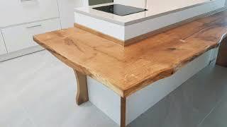 오크 원목 아일랜드 식탁 (원목 바 테이블)