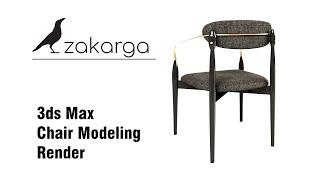 3ds Max I Chair Modeling I Rendering / www.zakarga.com