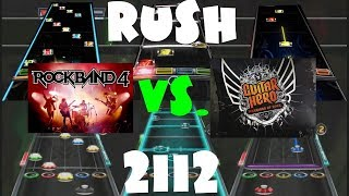 Rock Band 4 vs Guitar Hero Warriors of Rock Chart Comparison - 2112 by Rush
