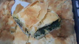 Ispanaklı rumeli böreği (el açması alt üst böreği)