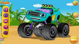 Blaze and The Monster Machines Blaze Monster Truck Wash and Repair - Nick Jr Car Wash