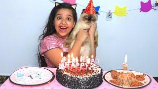 शफ़ा ने मनाया अपनी बिल्ली का जन्मदिन।