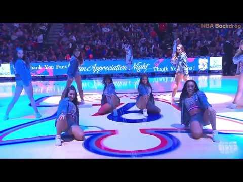 SIXERS DANCERS & Sixers Dunk Squad | Philadelphia 76ers Dancers | April 10, 2019
