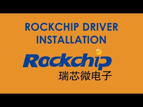 How To Install Rockchip Driver