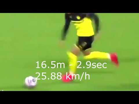 Якобы рекорд Эрлинга Холанда на 60 метров. Боруссия - ПСЖ. Erling Haaland 60 Meters Sprint Football
