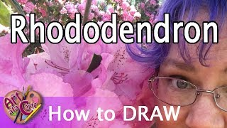 How to draw a Rhododendron flower