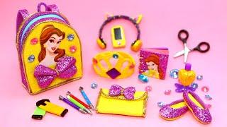 DIY Miniature Belle School Supplies - Bookbag, Cellphone, Headphones, Pencils, Scissors, etc.