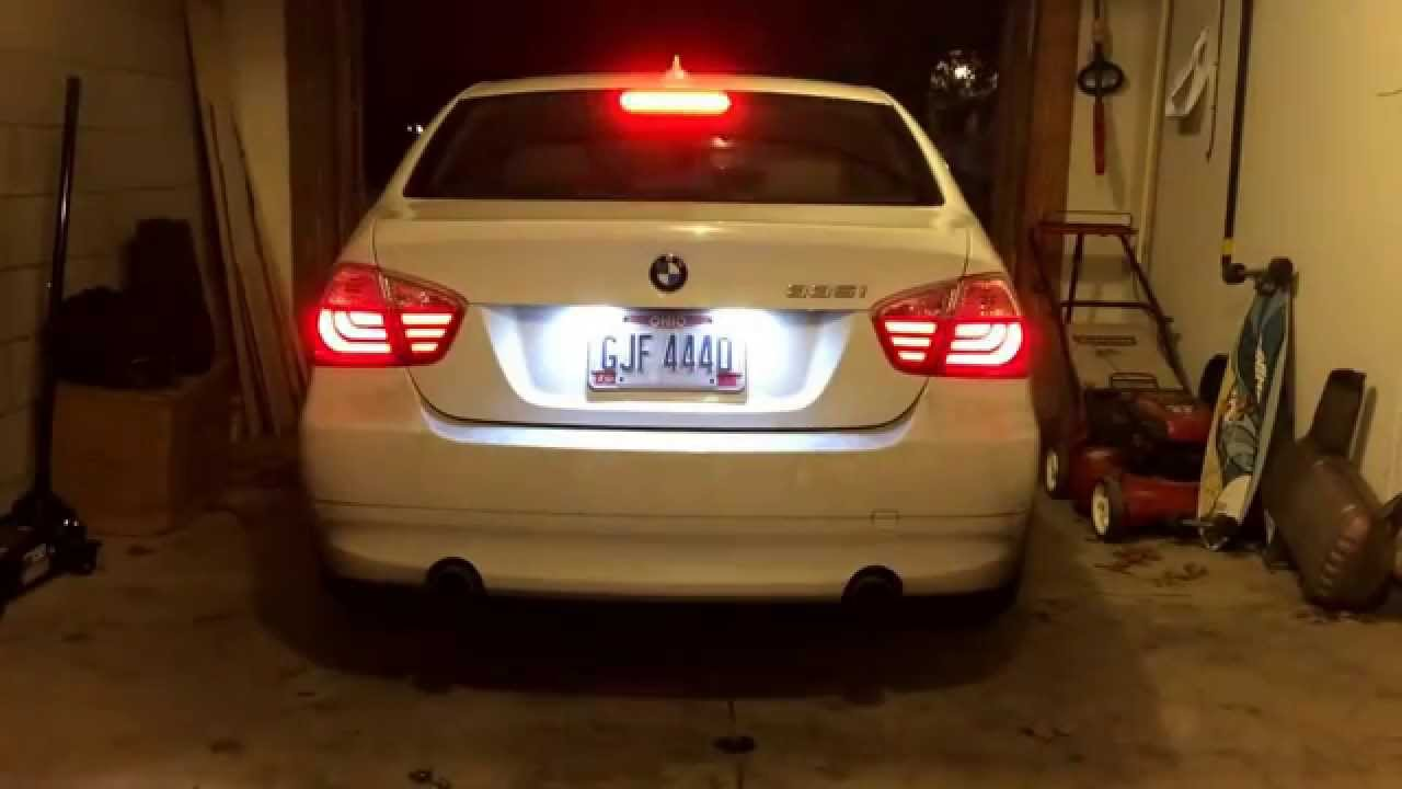 E90 335i With Led F10 Style Tail Lights Youtube