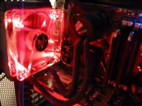 Intel Q9550 Overclocked and Water Cooled, New Lanbox Lite, Mini Tank  e8400 3.69 Ghz Sapphire 4870