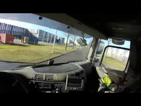 Truck Trailer rit Amsterdam-westpoort oprit A5. GoPro Headcam video