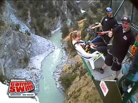 canyon swing chair queenstown stacking sling chairs patio first fall-chair of death - youtube