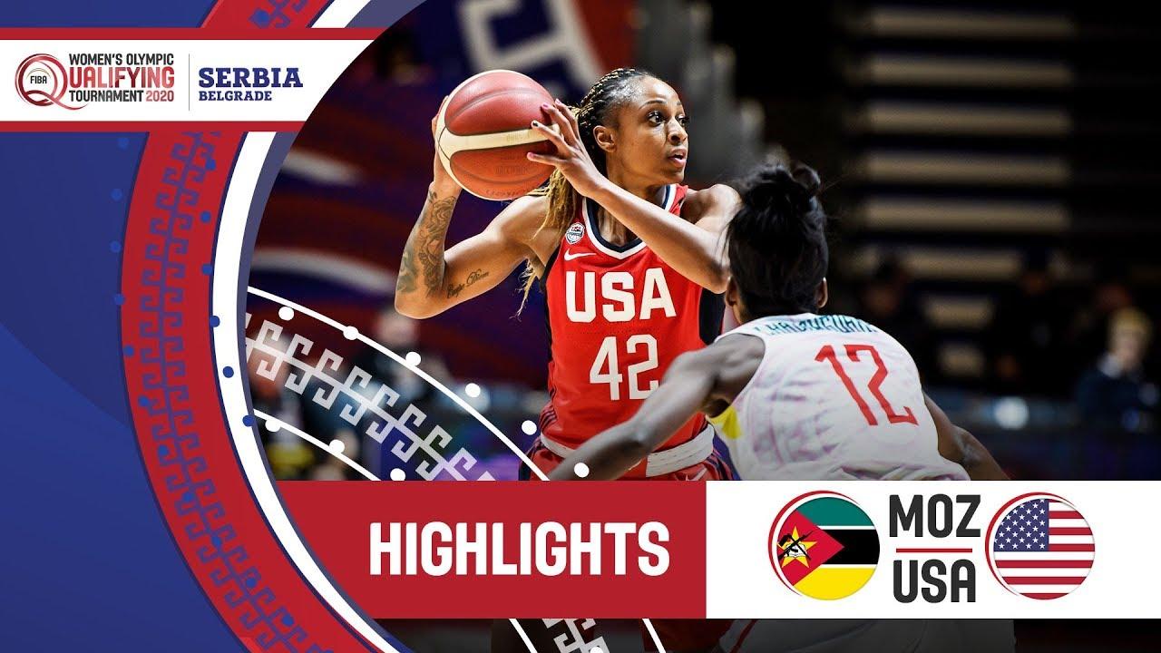 Mozambique v USA - Highlights - FIBA Women's Olympic Qualifying Tournament 2020