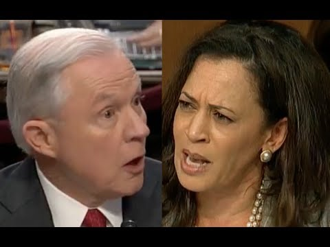 Jeff Sessions' HEATED EXCHANGE with Kamala Harris During the Trump-Russia Senate Intel Hearing