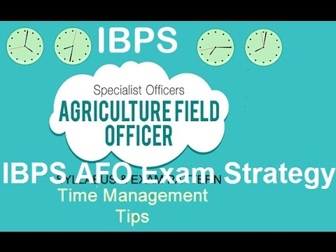 IBPS Agricultural Field Officer (AFO) Mains Exam Strategy (Hindi/English)