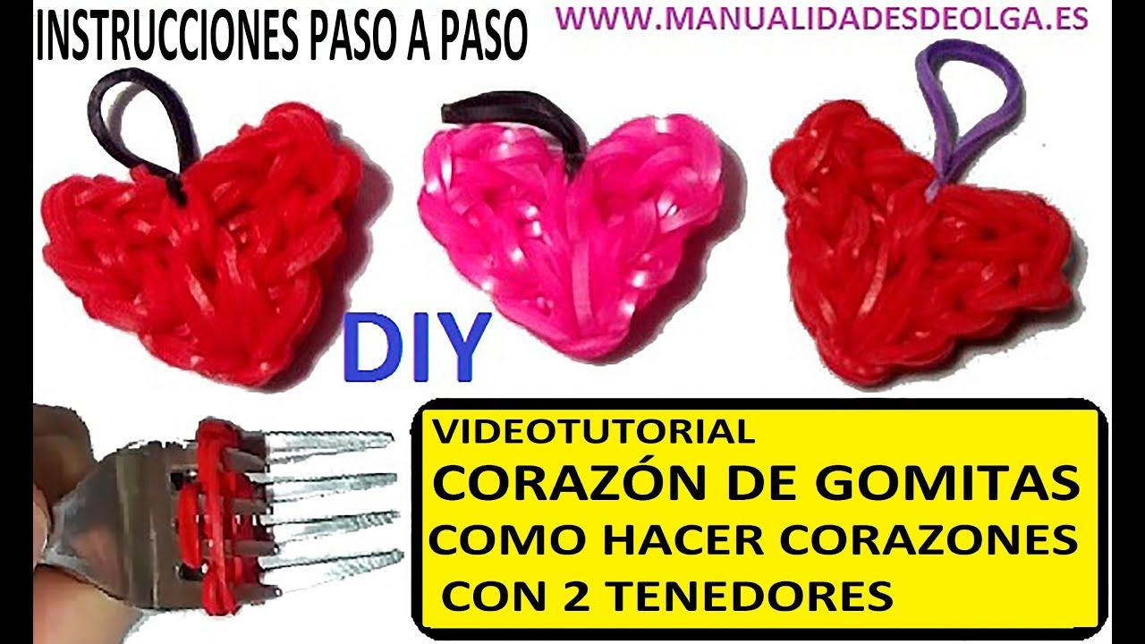 COMO HACER UN CORAZN DE GOMITAS CON DOS TENEDORES VIDEO TUTORIAL