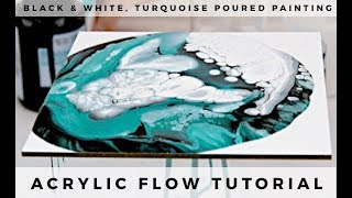 Pour Painting: Dirty Pour Method Using Silicone Oil and Basic Acrylic Paint on Masonite