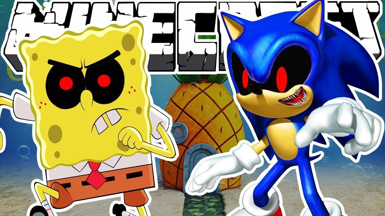 Minecraft Evil Sonic And Spongebob Youtube
