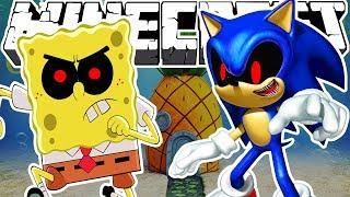 - Minecraft Evil Sonic and SpongeBob