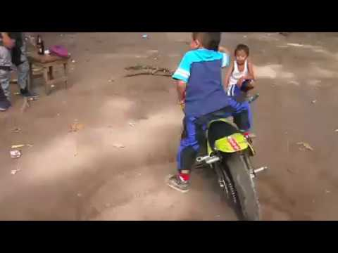 Bike stunt by a small boyin good experience