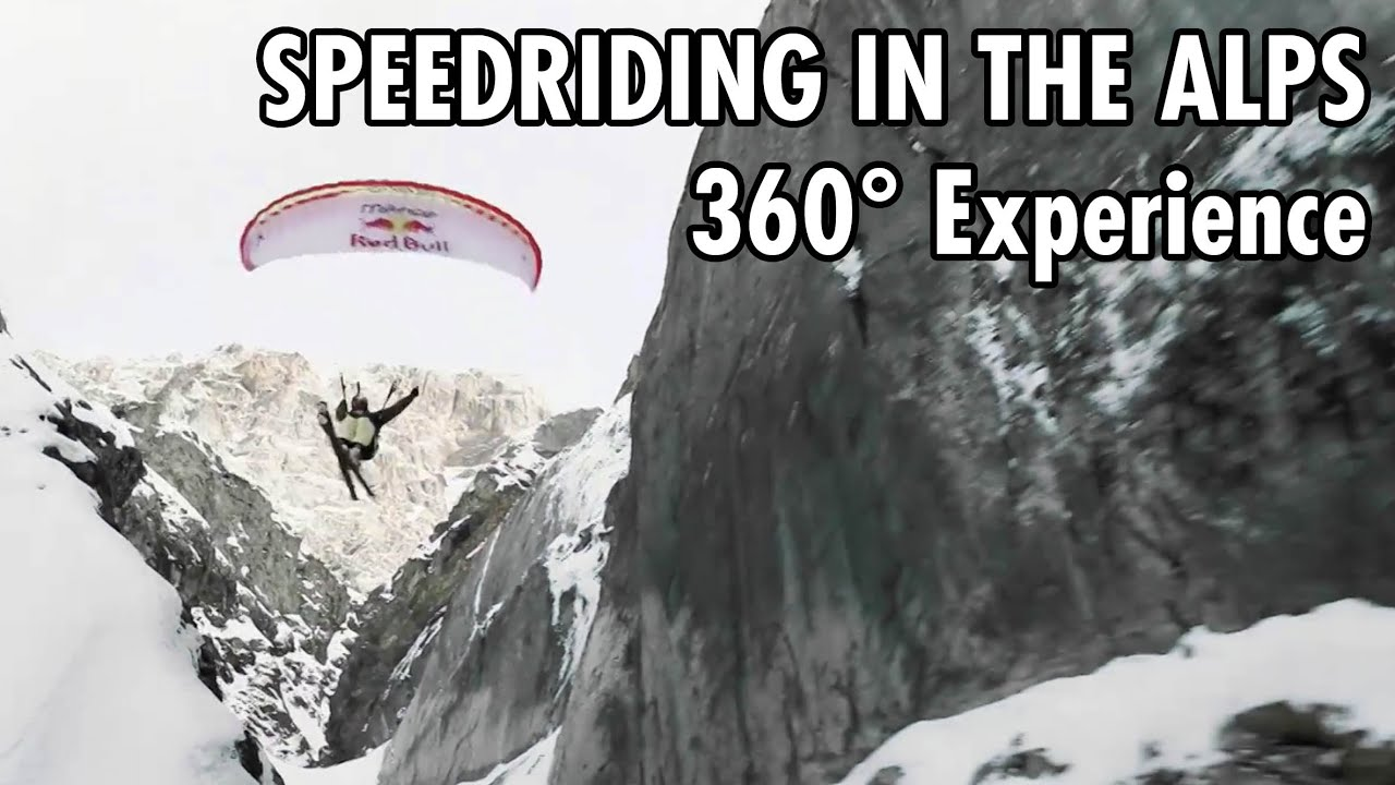 Proximity Speedriding Through Gorges in the Alps | 360° POV Experience