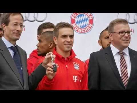 FC Bayern   AUDI Fahrzeugübergabe 2015