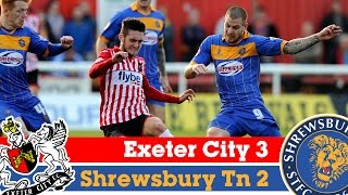 Exeter City 3-2 Shrewsbury Town (22/11/14) - Sky Bet League 2 Highlights 2014/15