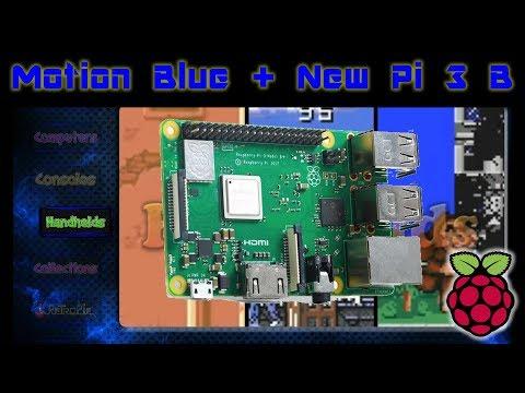New Pi 3 1.4ghz Motion Blue V.6 Retro Gaming + Overclock 1.6GHZ