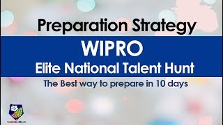 Wipro Elite NTH 2020 Preparation Strategy | Best Way to Prepare in 10 days