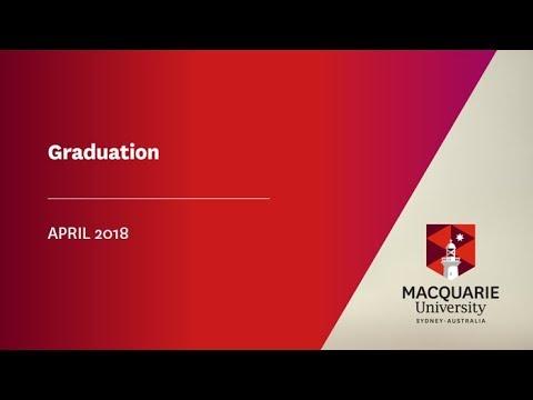 Macquarie Graduation 23 April at 10.30am