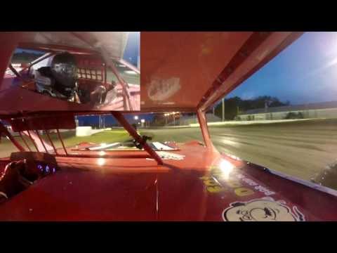 Jeff Crouse Racing.  Fiesta City Speedway Crash.  2 Gopros.  5/26/17.  Super Stock