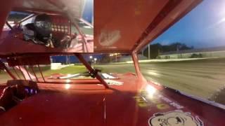 Jeff Crouse Racing.  Fiesta City Speedway Crash.  2 Gopros.  5/26/17.  Super Stock