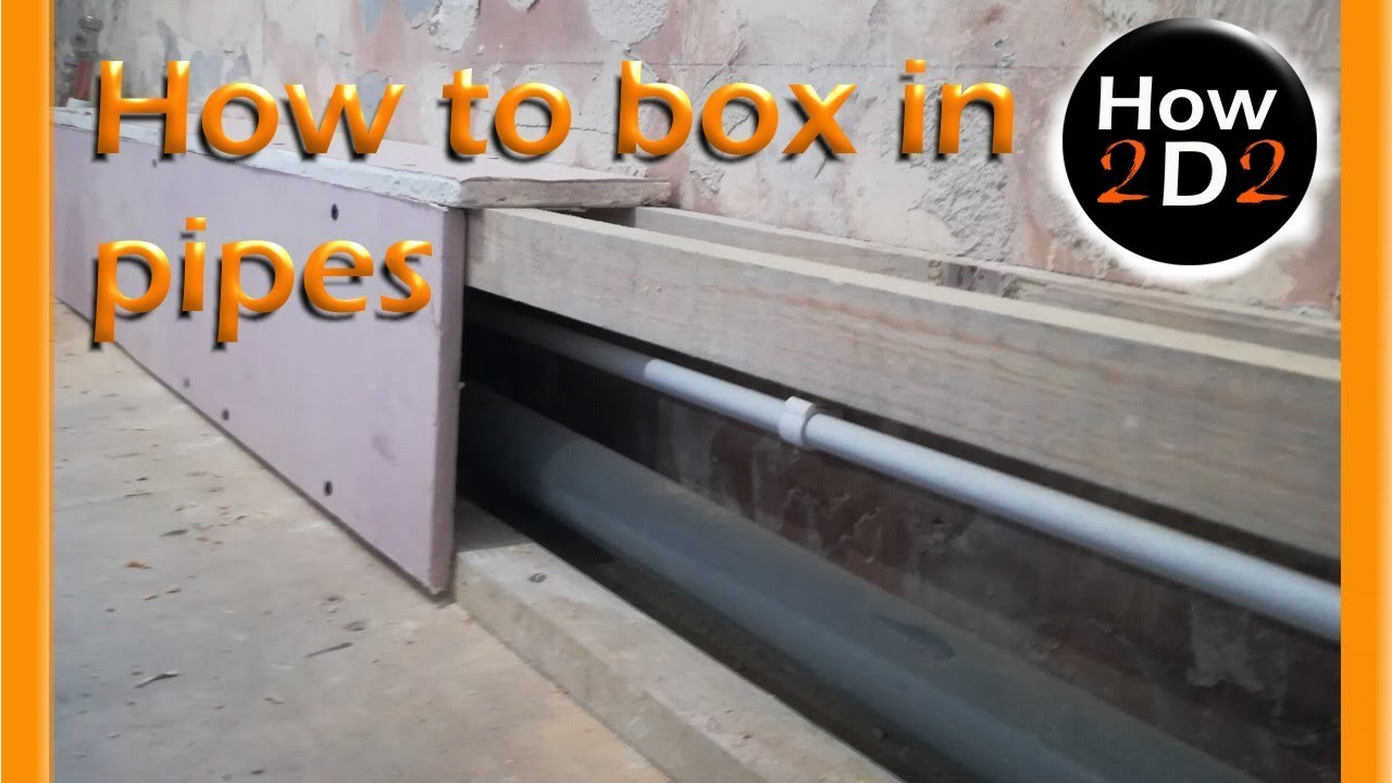 How To Box In Pipes Pipe Box In With Mdf Plywood