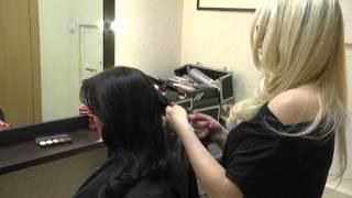 як зробити грецьку зачіску відео з чубчиком