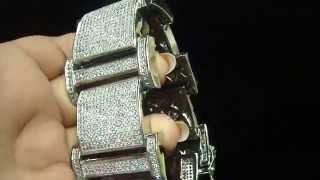 Heavy Mens Custom Lab Diamond Bracelet