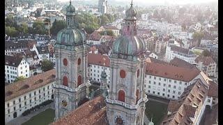 St. Gallen from a  bird's-eye view (drone video)
