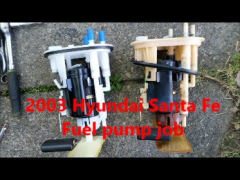 how to replace a fuel pump in a 2003 hyundai santa fe youtubehow to replace a fuel pump in a 2003 hyundai santa fe