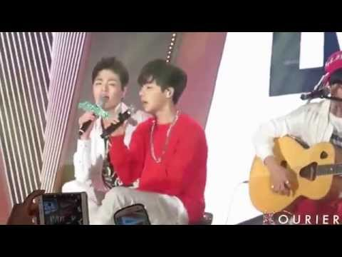 FANCAM 141017 'Wait For Me' Acoustic Version  IKON Fanmeeting In Seoul