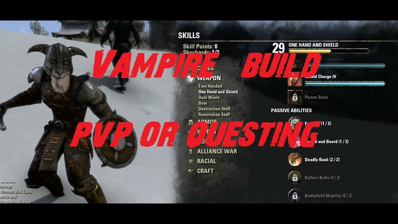 how to become a vampire eso