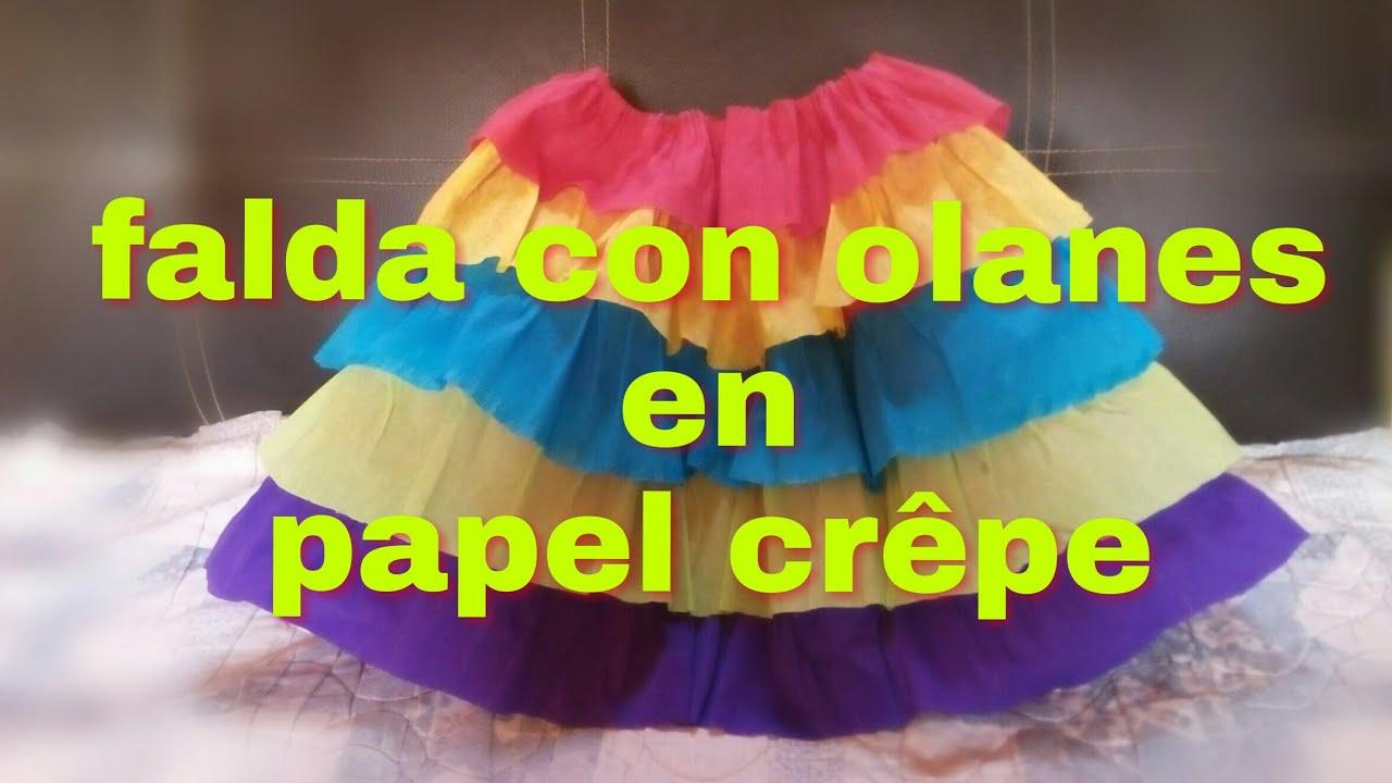 Como hacer una falda con olanes en papel cr pe youtube - Videos de como hacer crepes ...